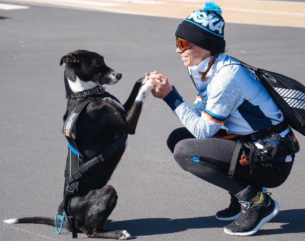 manon genêt et son chien