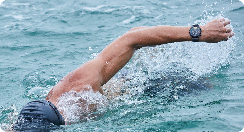 nageur montre gps